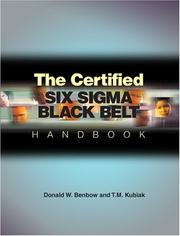 Cover of: The Certified Six Sigma Black Belt Handbook