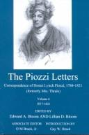 Cover of: The Piozzi Letters