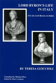 Cover of: Lord Byron's Life in Italy