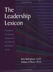 Cover of: The Leadership Lexicon