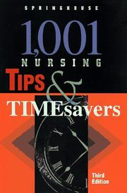 Cover of: 1,001 Nursing Tips & Timesavers