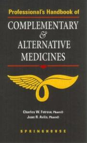 Cover of: Professional's Handbook of Complementary & Alternative Medicines