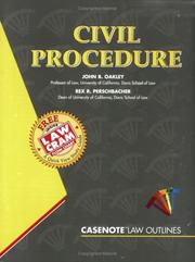 Cover of: Civil Procedure (Outline Series)