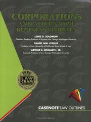 Cover of: Corporations and Alternative Business Vehicles (Law Outine Ser.)