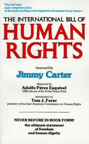 Cover of: The International Bill of Human Rights