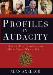 Cover of: Profiles in Audacity: Great Decisions and How They Were Made