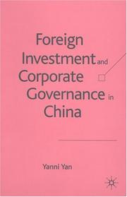 Cover of: Foreign Investment and Corporate Governance in China