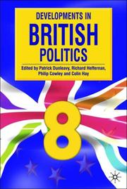 Cover of: Developments in British Politics 8