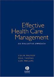 Cover of: Effective Health Care Management