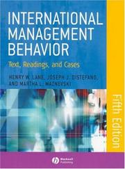 Cover of: International Management Behavior