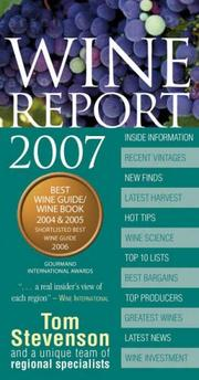 Cover of: Wine Report 2007