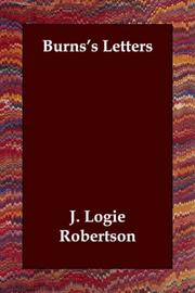 Cover of: Burns's Letters