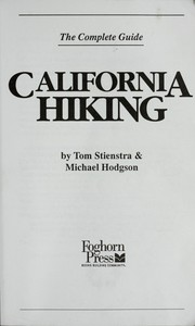 Cover of: California hiking