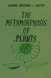 Cover of: The Metamorphosis of Plants