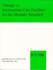 Cover of: Therapy in Intermediate Care Facilities for the Mentally Retarded
