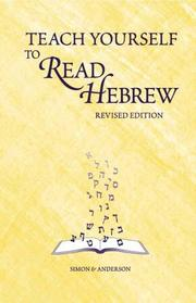 Cover of: Teach Yourself to Read Hebrew (CD & Book Set)