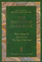 Cover of: The Bathroom Game Book