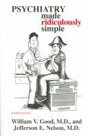Cover of: Psychiatry Made Ridiculously Simple (Medmaster Ridiculously Simple)