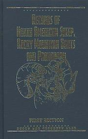 Cover of: Records of North American Sheep, Rocky Mountain Goats & Pronghorn