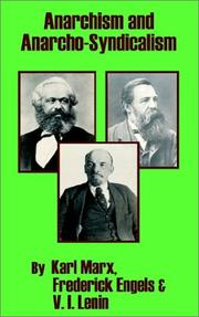 Cover of: Anarchism and anarcho-syndicalism