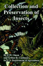 Cover of: Collection And Preservation of Insects