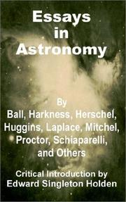 Cover of: Essays in Astronomy