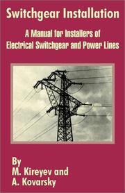 Cover of: Switchgear Installation