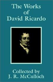 Cover of: The Works of David Ricardo