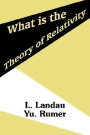 Cover of: What Is the Theory of Relativity