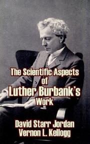 Cover of: The Scientific Aspects of Luther Burbank's Work