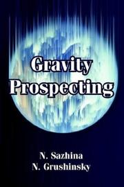 Cover of: Gravity Prospecting