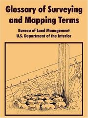 Cover of: Glossary Of Surveying And Mapping Terms