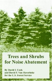 Cover of: Trees And Shrubs For Noise Abatement