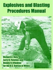Cover of: Explosives And Blasting Procedures