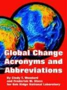 Cover of: Global Change Acronyms And Abbreviations