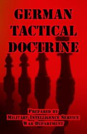Cover of: German Tactical Doctrine