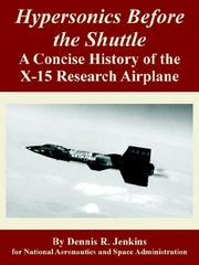 Cover of: Hypersonics Before the Shuttle