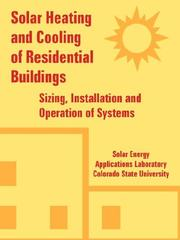 Cover of: Solar Heating And Cooling of Residential Buildings