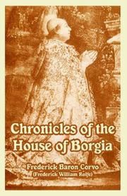 Cover of: Chronicles of the House of Borgia