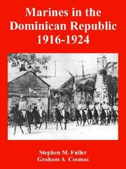 Cover of: Marines in the Dominican Republic 1916-1924
