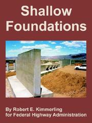 Cover of: Shallow Foundations