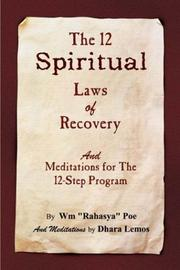 Cover of: The 12 Spiritual Laws of Recovery