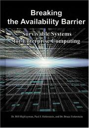 Cover of: Breaking the Availability Barrier