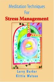 Cover of: Meditation Techniques for Stress Management