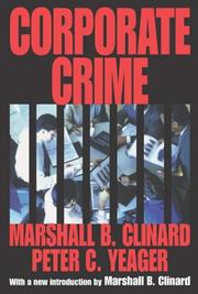 Cover of: Corporate Crime (Law and Society Series)