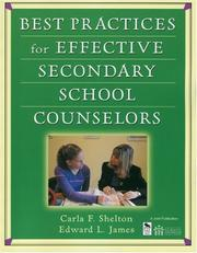 Cover of: Best Practices for Effective Secondary School Counselors