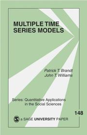 Cover of: Multiple time series models