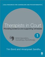 Cover of: Therapists in Court