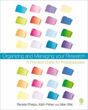 Cover of: Organizing and Managing Your Research
