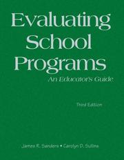Cover of: Evaluating School Programs